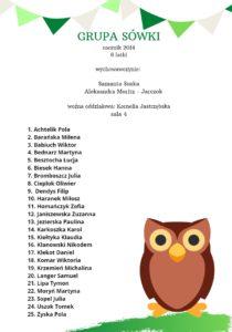Lista dzieci sześcioletnich