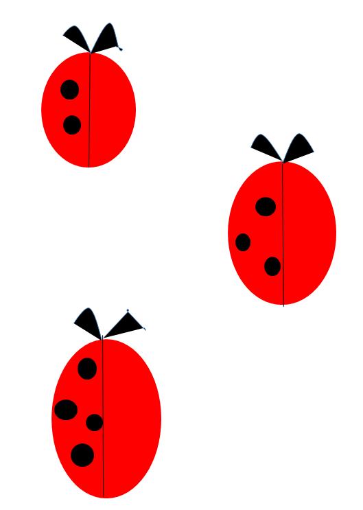 obrazek przedstawiający trzy biedronki