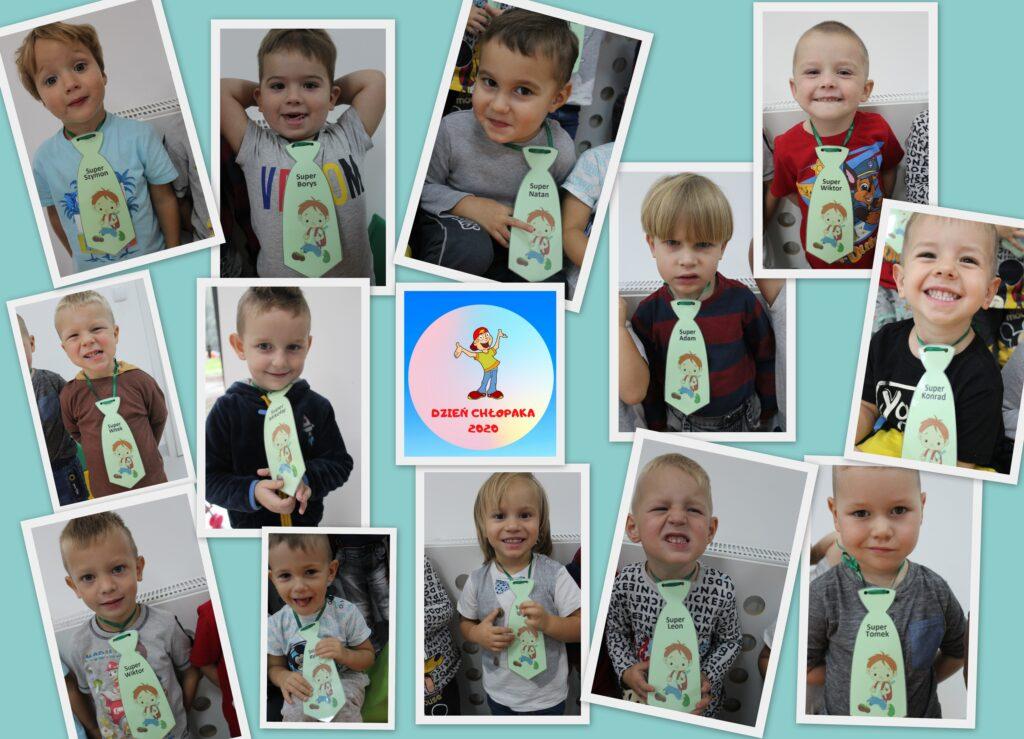 zdjęcie przedstawiająće chłopców w krawatach