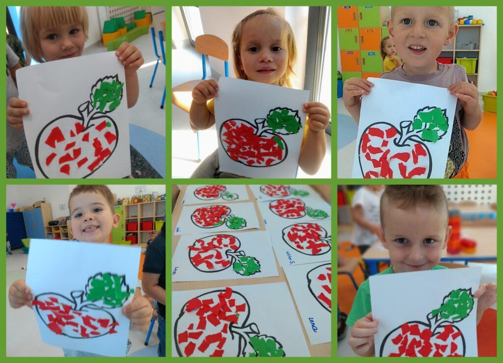 """kolaż zdjęć praca plastyczna """"Jabłka"""""""
