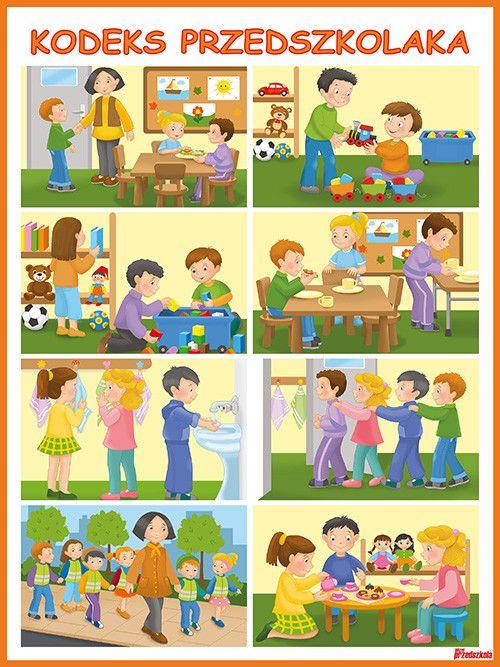 grafika plakat przedstawiający kodeks przedszkolaka