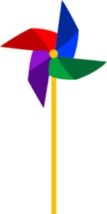 obrazek przedstawiający kolorowy wiatraczek