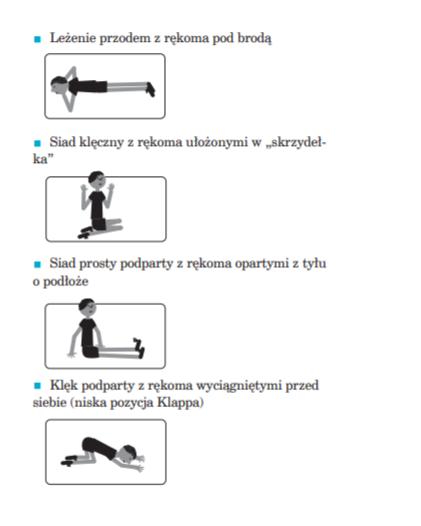 grafika z ćwiczeniami gimnastycznymi