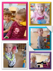 dzieci bawia się w sali
