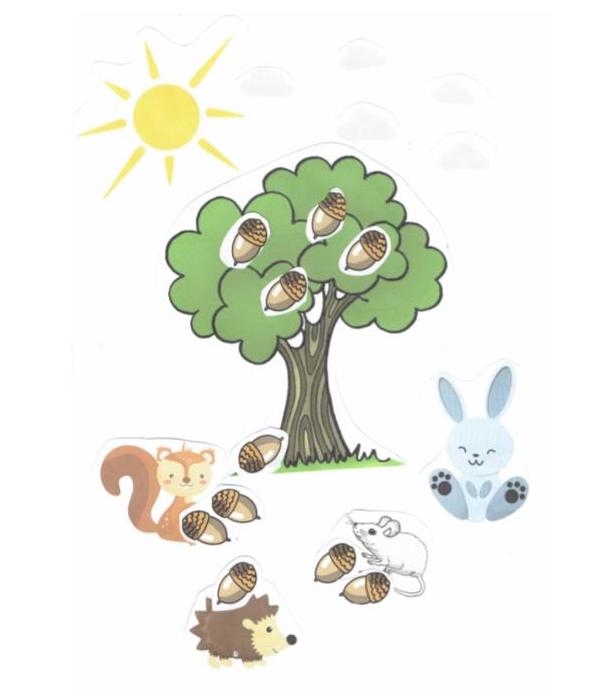 obrazek przedstawiający drzewo  zwierzątka
