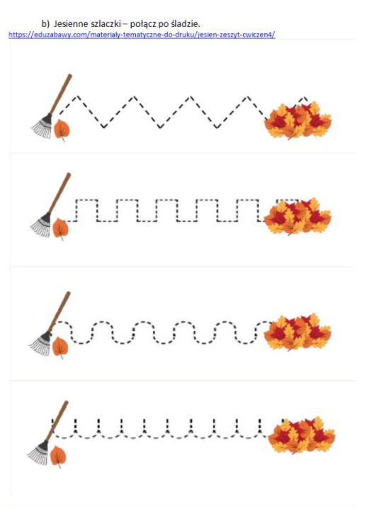 grfika ćwiczenie grafomotoryczne szlaczki