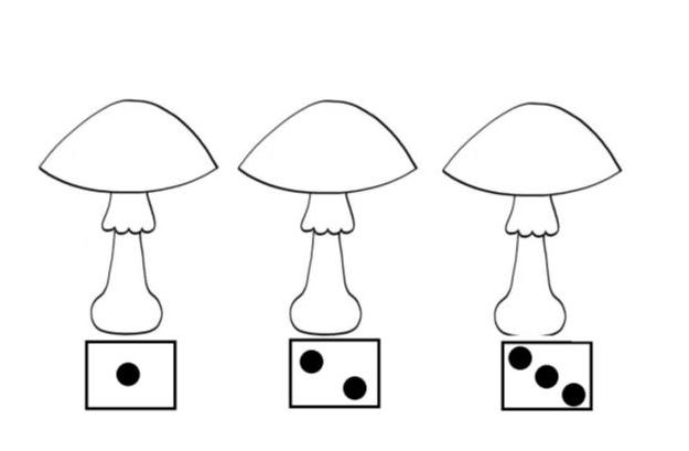 grafika przedstawiająca trzy grzybki