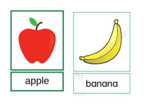 obrazek jabłko i banan