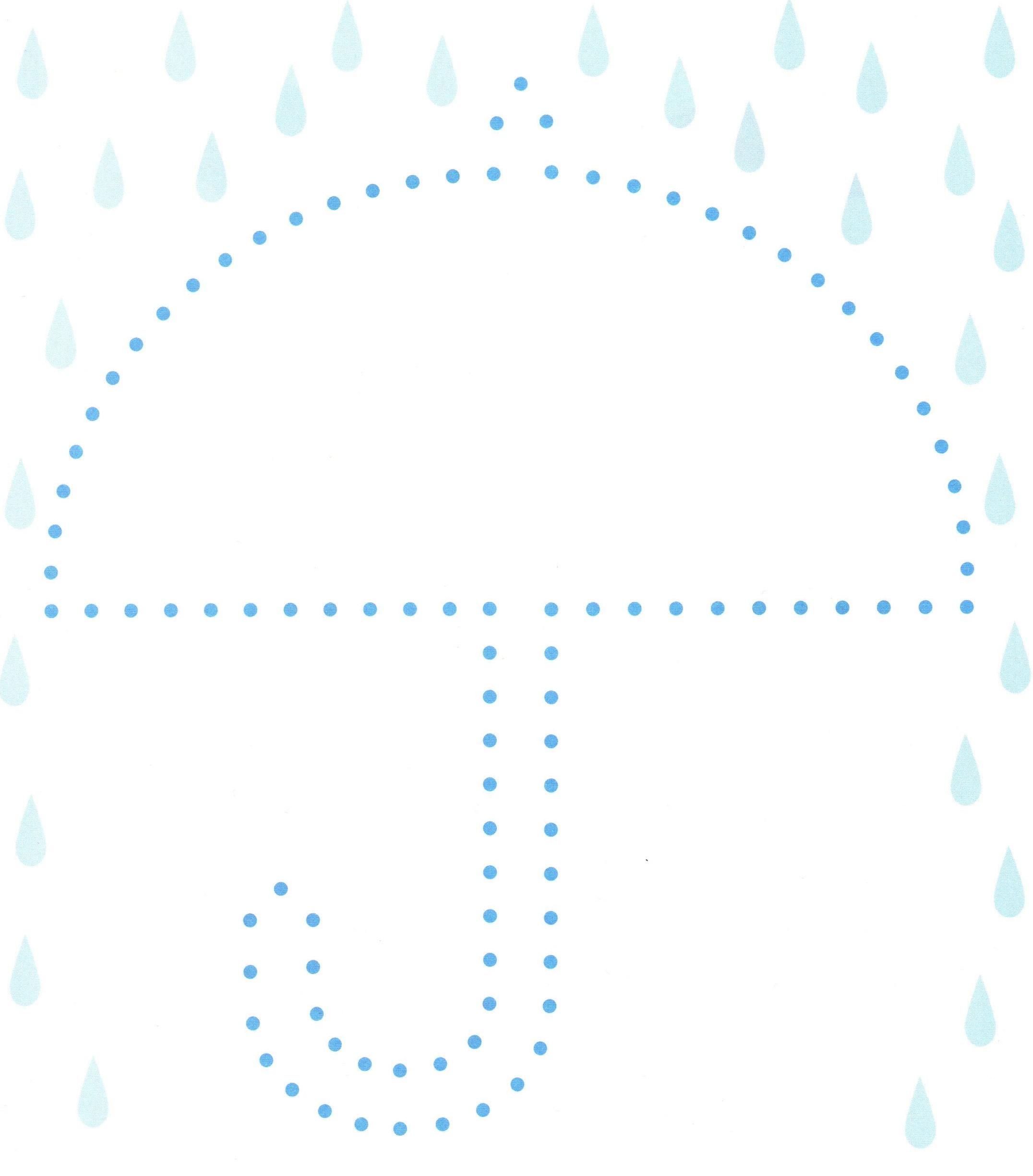 ćwiczenie grafomotoryczne parasol