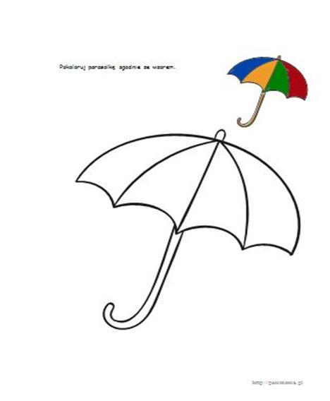 grafika karta pracy parasol