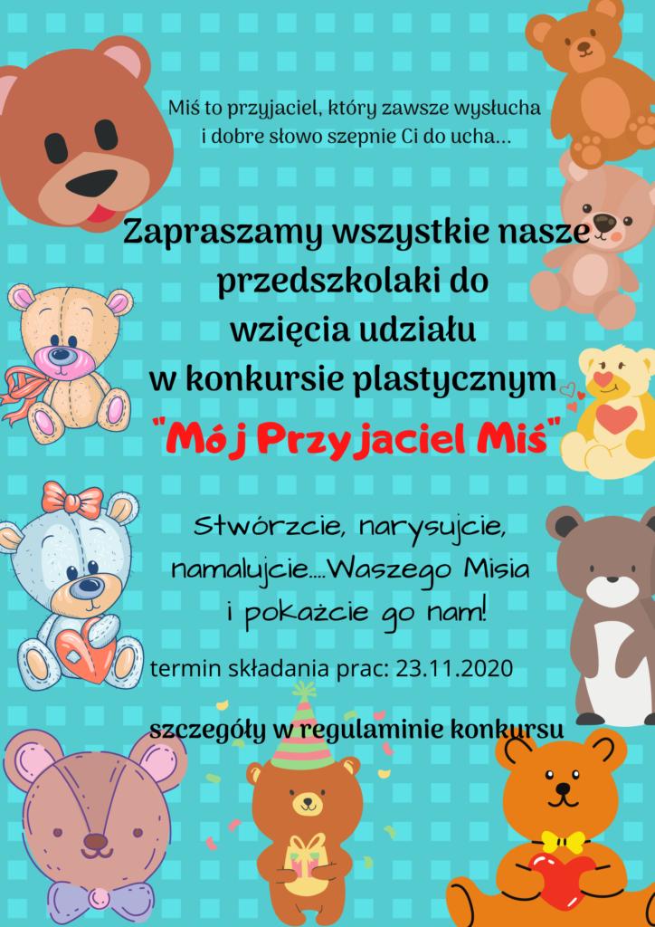 plakat na temat konkursu o misiu