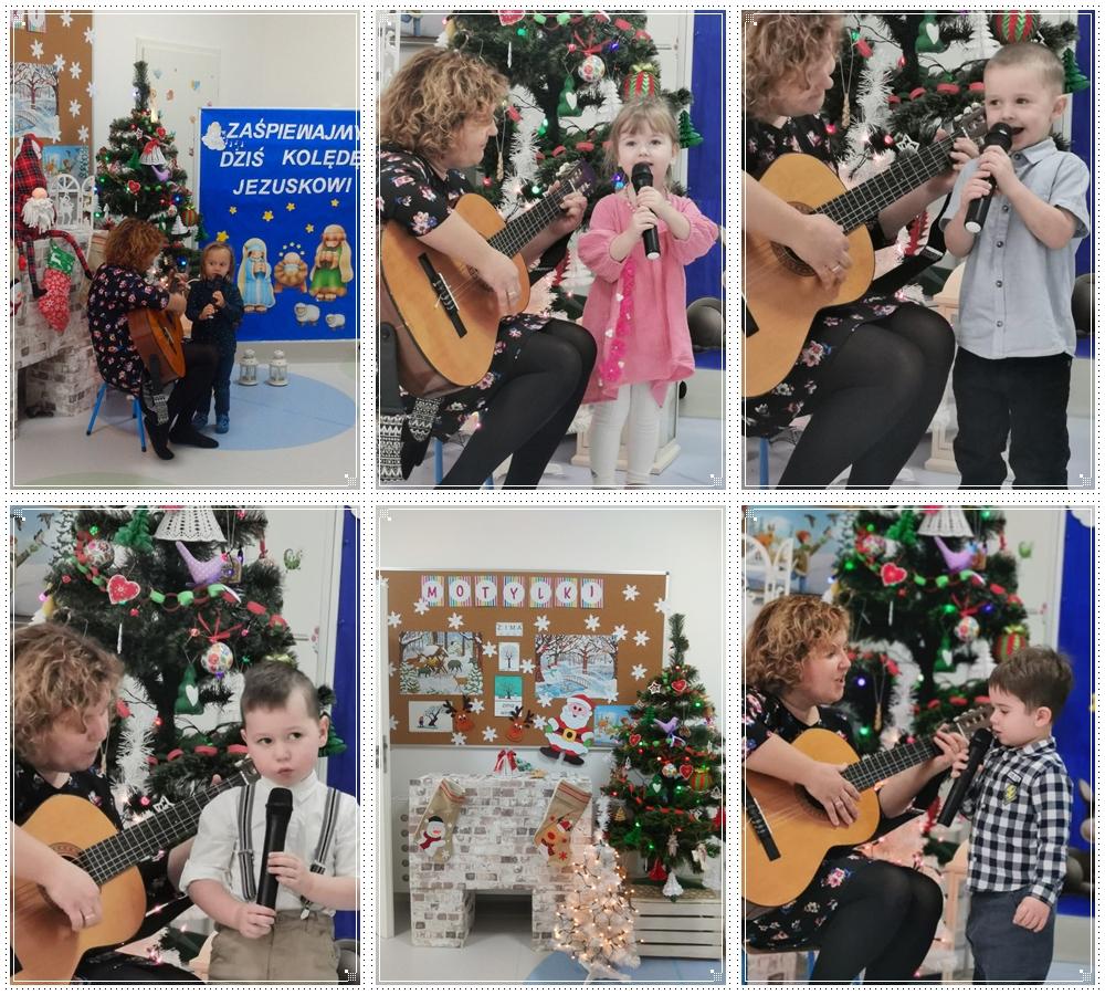 dzieci śpiewjące kolędy na konkursie kole