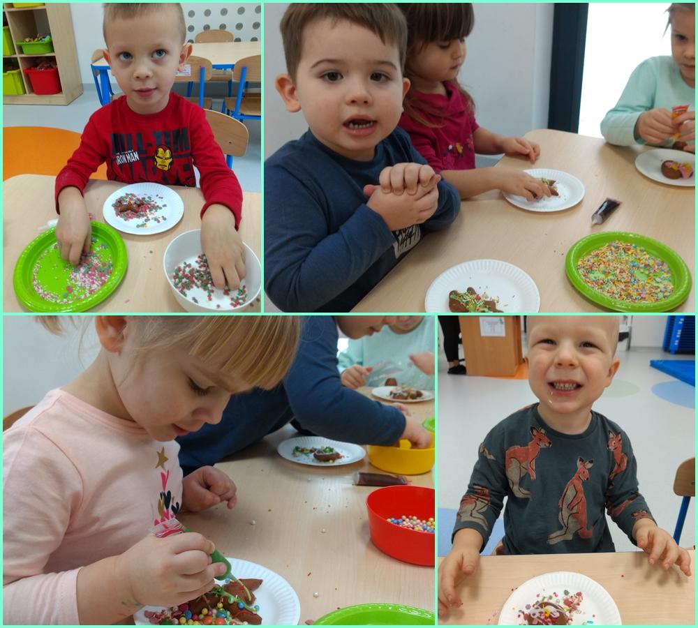 dzieci dekorujące pierniczki