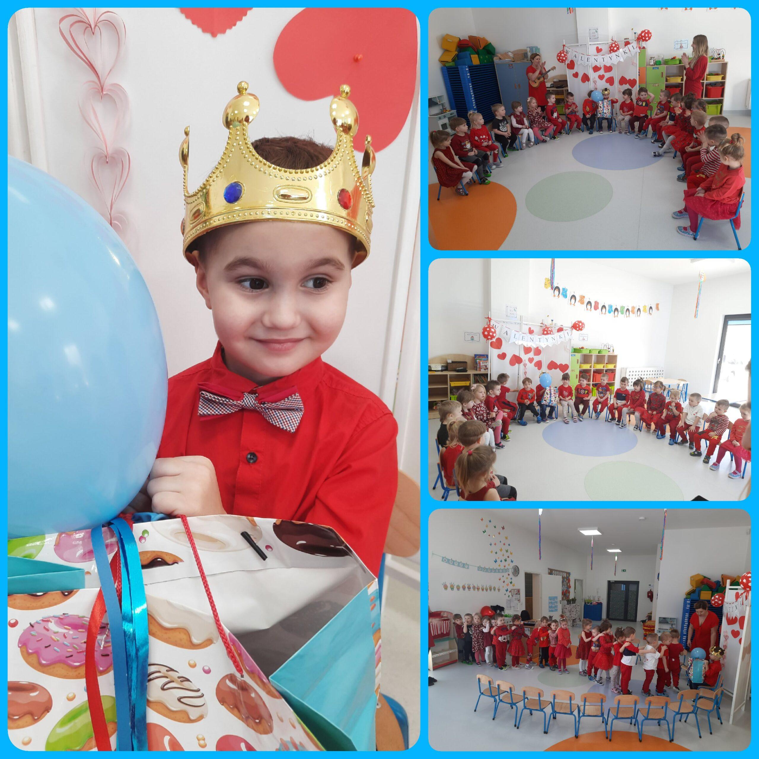 kolaż zdjęć dzieci podczas urodzin