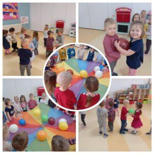 zabawy dzieci z balonami