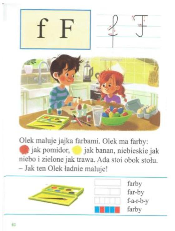 grafika nauka litery F