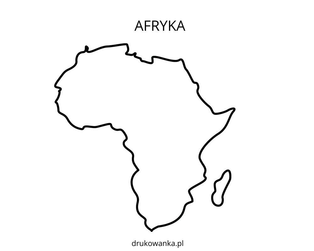 grafika kontury Afryki