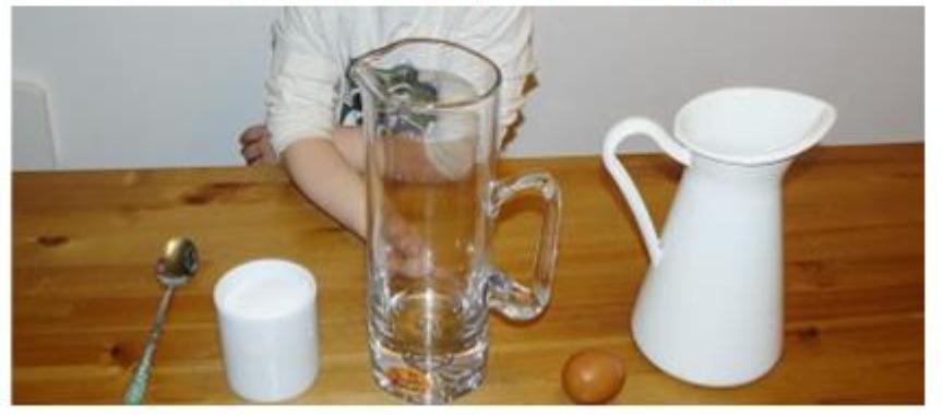 zdjęcie eksperymentu woda i jajka