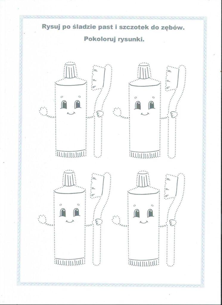 karta pracy zęby