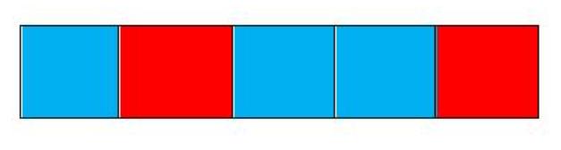 grafika czerwone i niebieskie kwadraty