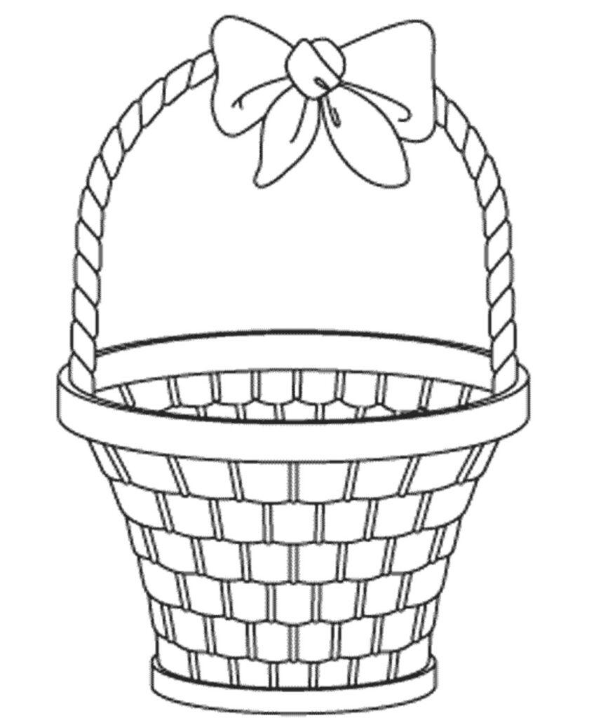 kolorowanka koszyk wielkanocny