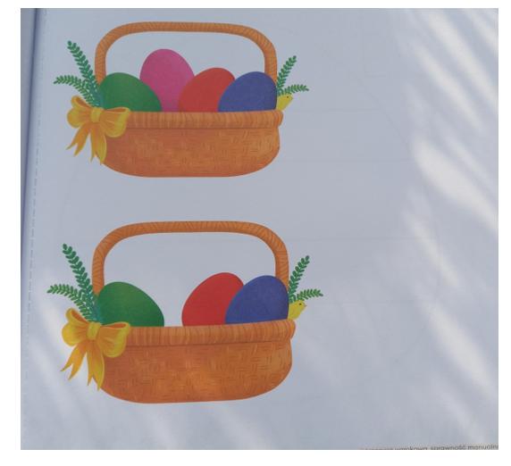 grafika dwa koszyki wielkanocne