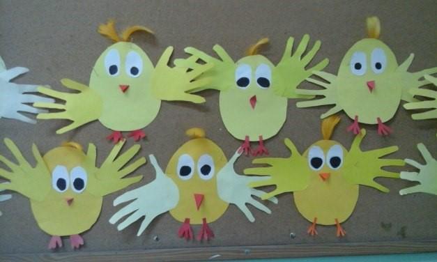 grafika praca plastyczna kurczak