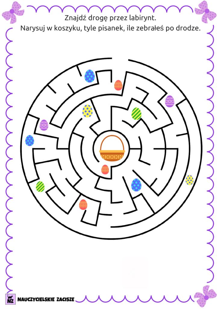 grafika labirynt karta pracy