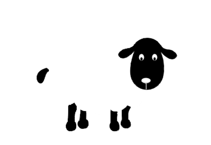 grafika owieczka do stemplowania