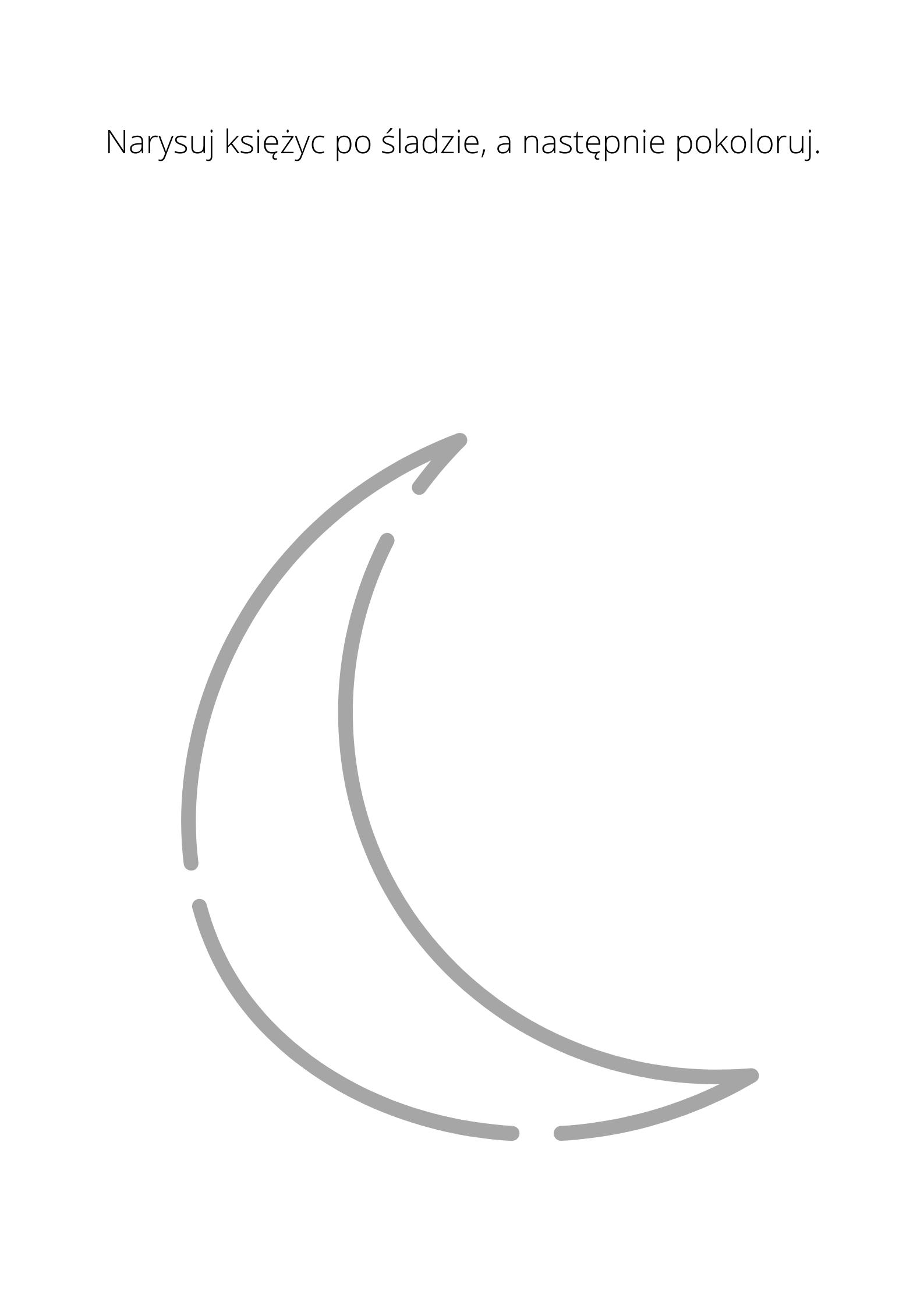 karta pracy księżyc