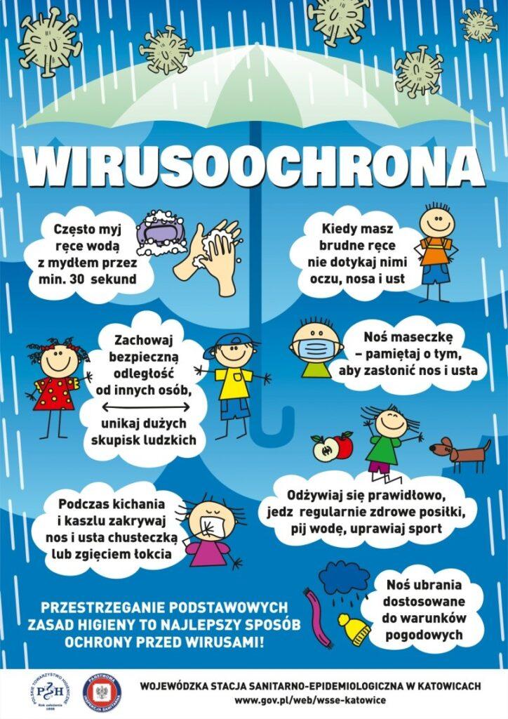 plakat wirusoochrona