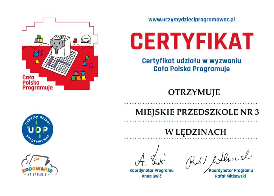 certyfikat code week