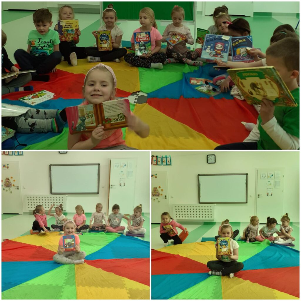 dzieci podczas dnia książki