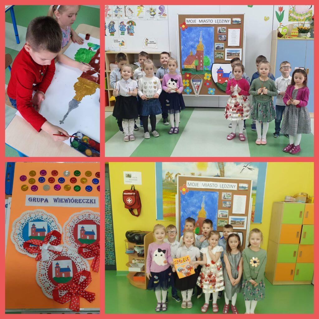dzieci podczas zajęć o Lędzinach