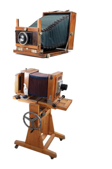 zdjęcie dawne aparaty fotograficzne