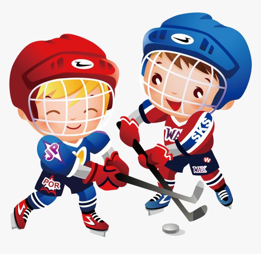 grafika dzieci grające w hokeja