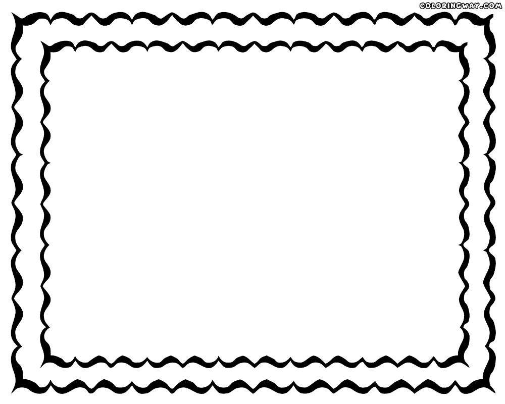 kolorowanka ramka