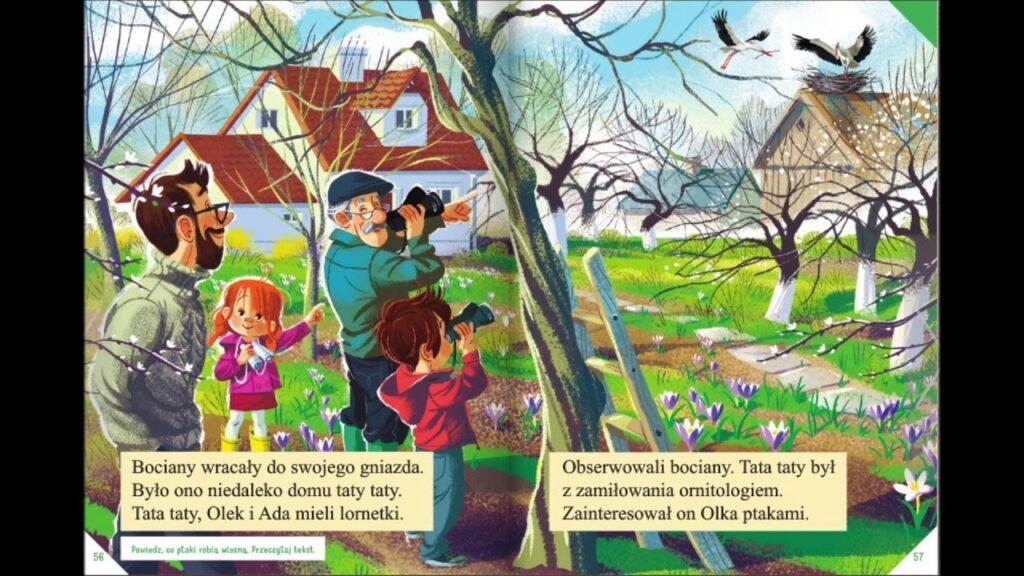 grafika dzieci w ogrodzie