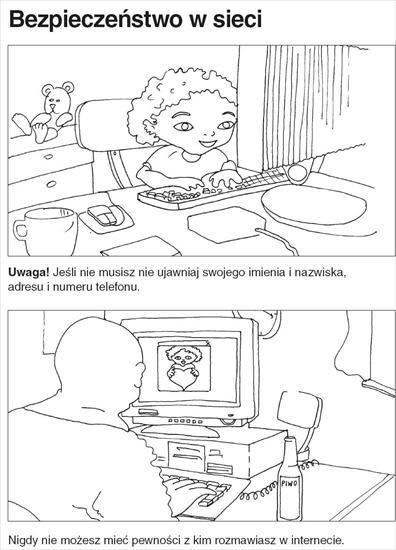 kolorowanka bezpieczny internet