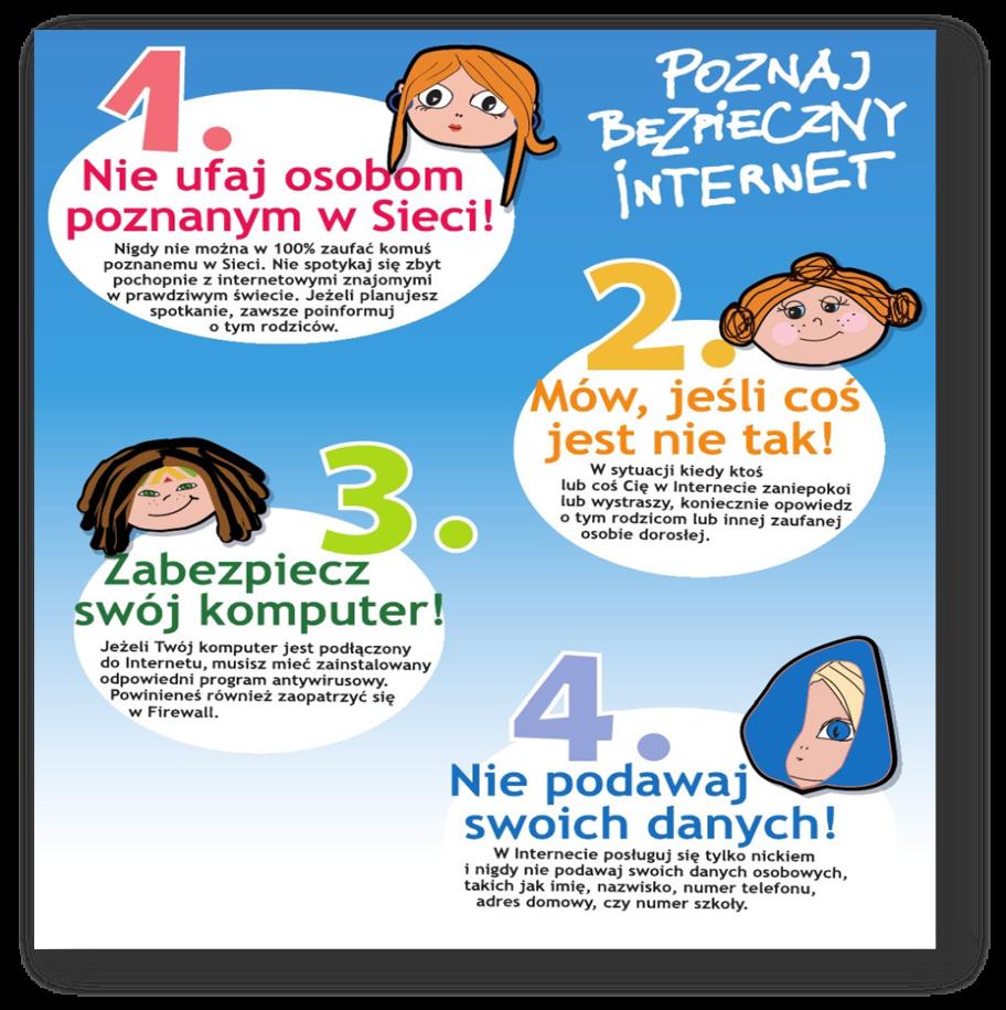 grafika bezpieczeństwo w internecie