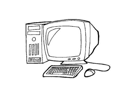 kolorowanka komputer