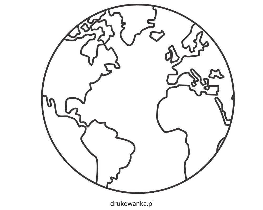 kolorowanka planeta Ziemia