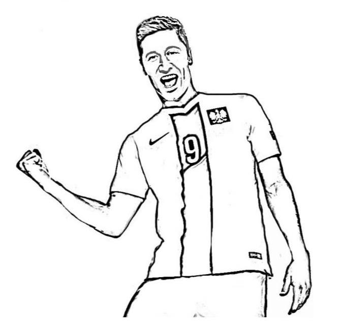 kolorowanka piłkarz