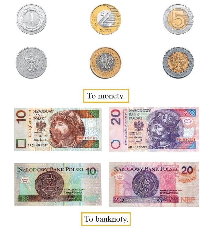 grafika monety i banknoty