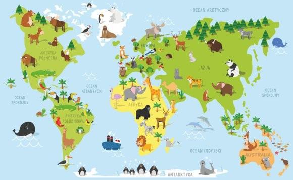 grafika mapa świata