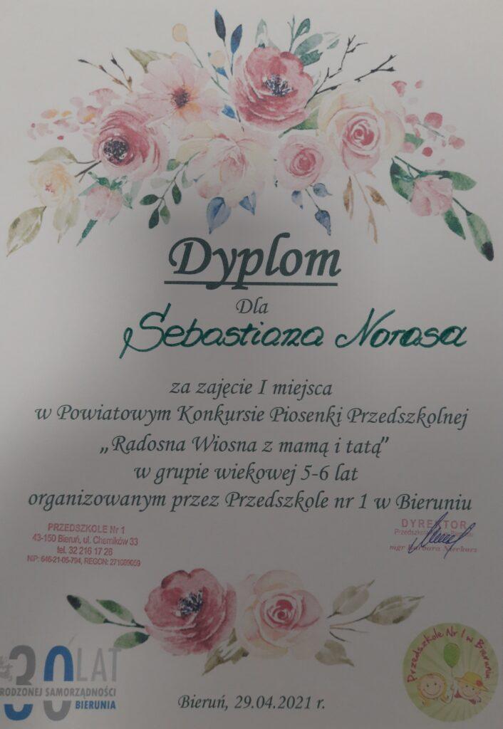 dyplom konkurs piosenki